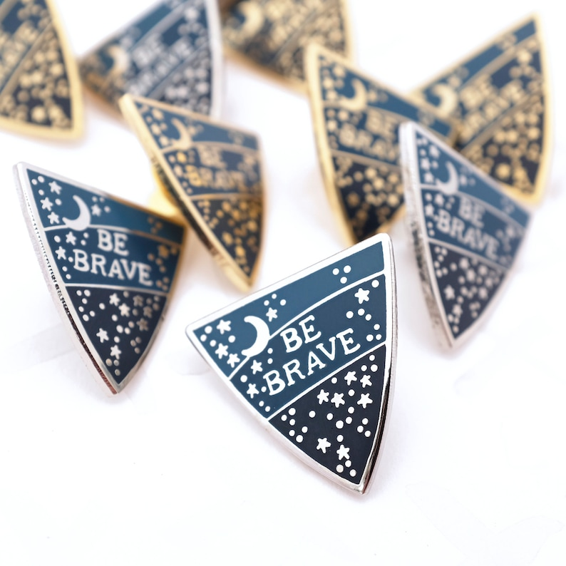 Be Brave Enamel Pin Badge image 0