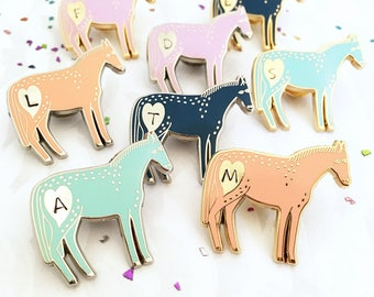 Personalised Pony Pin Badge