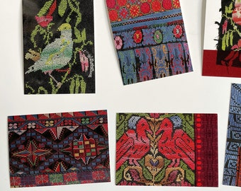 Vintage Bedouin Palestinian Embroidery Post Cards Set 12