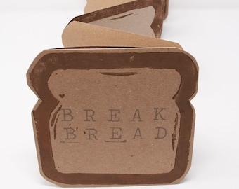 Break Bread / Artist Book / Accordion Book / Linoleum Prints / Sliced Bread Book / Make Your Own Recipe Book