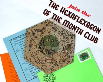 Hexaflexagon of the Month Club! / Flexagons / Mail Art / Yearly Subscription / A Year of Paper Art Fun