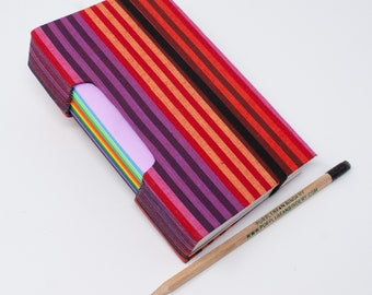 3 Year Journal / 365 Page Journal / A Page a Day / Hand bound Notebook /Gratitude Journal / Lined Pages / Red Stripes