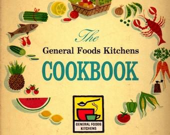 1950s The General Foods Kitchen Cookbook Vintage Cookbooks Recipe Cookbook Hard Cover Kitchen Helper Book Menu Planning Farmhouse Decor