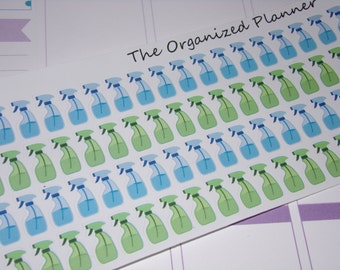 Cleaning Spray Bottle Stickers for your Planner