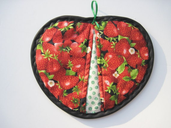 Yummy strawberries flowers  Microwave hot bowl holder  FREE US SHIPPING cotton