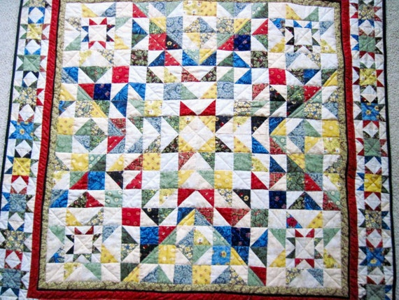 Small Lap Quilt Wall Hanging Sofa Quilt Baby Quilt Patchwork Etsy