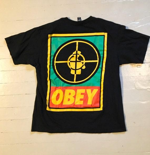 Public Enemy x Obey shirt xl