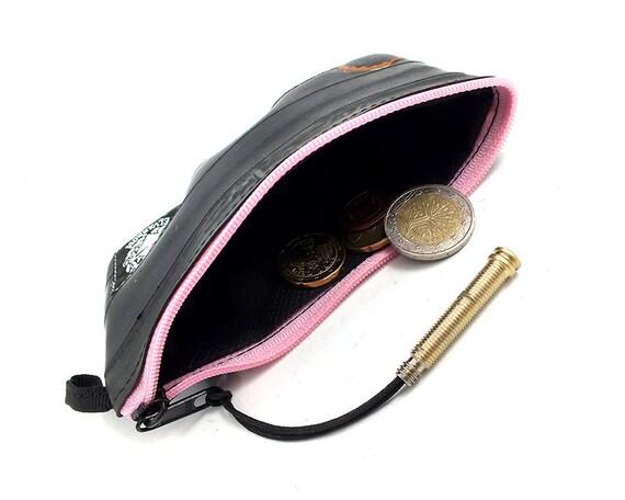 Chambre air de pi ce de monnaie sac main rose zip m etsy - Sac a main chambre a air ...