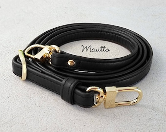 3219e0a3b010 Black Leather Strap for Louis Vuitton Eva Alma etc - .5