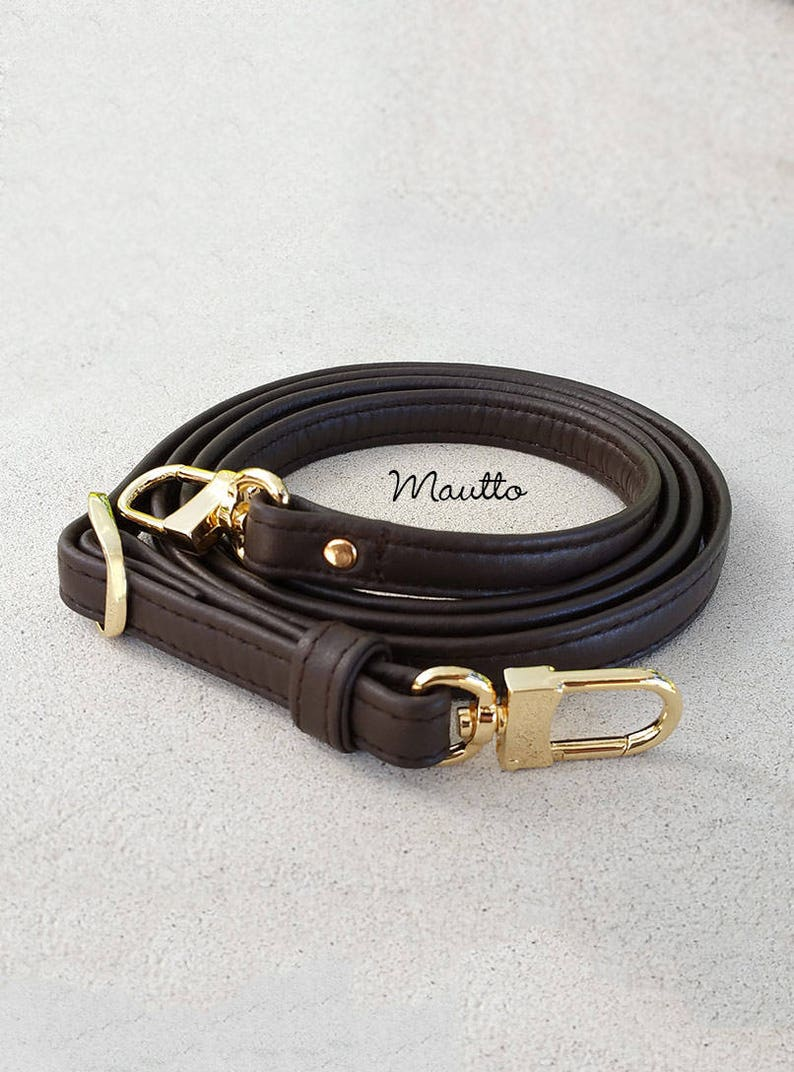 fa317fbe0662 Dark Brown Mahogany Leather Strap for Louis Vuitton