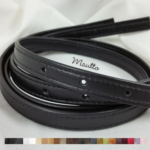 Adjustable Leather Straps (Set of 2) for Michael Kors (MK) Jet Set etc 3 Punched Holes on Ends 12