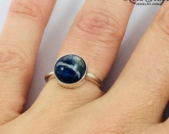 Size 6, Sodalite Ring, Sodalite Jewelry, Sodalite, Stone Ring, Silver Ring, Sterling Silver Ring, READY TO SHIP