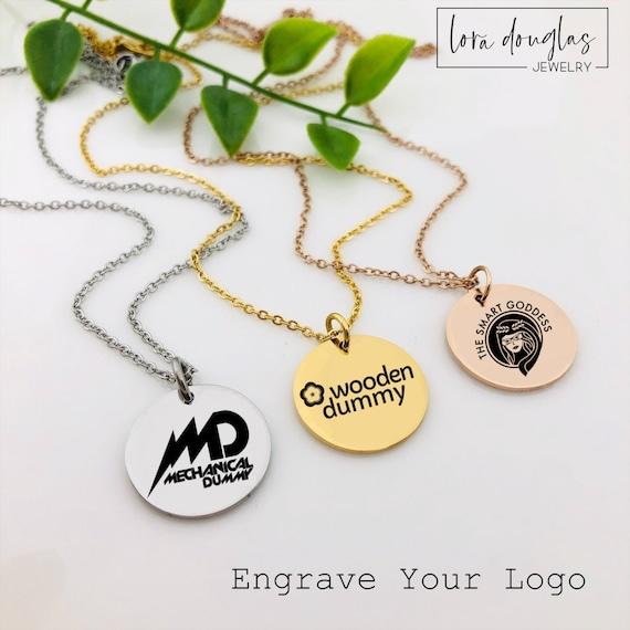 Acrylic or Wood Custom Logo Charm Made with Your Logo