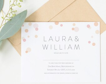 Printable wedding invitation set - Parker collection