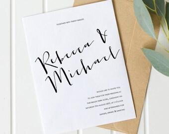 Printable wedding invitation set - Hunter collection