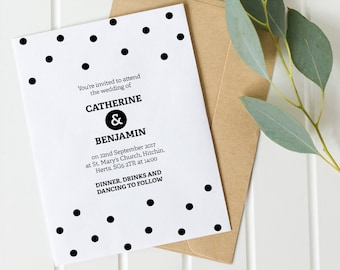 Printable wedding invitation set - Taylor collection