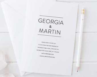 Printable wedding invitation set - Thompson collection