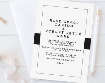 Sample wedding invitation set - Carson collection