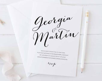 Sample wedding invitation set - Bailey collection