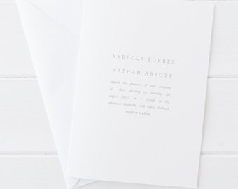 Printable wedding invitation set - Forbes collection