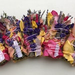 "20 3"" Colorful Floral Bouquet Wild Style Intuitively Crafted Smudge Wands + Crystals. All Natural Botanicals. Bulk Wholesale Retail Resale"