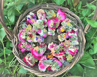 10 Burnable Botanical Bundles: Roses, Lavender, Sage, Cedar, Pine, Blooms, Herbs. Purify Your Air w/ Pure & Natural Herbal Floral Incense!