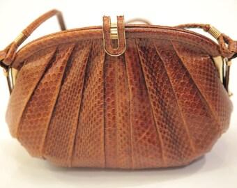 Vintage / Snake skin authentic vintage bag HIGH Quality!