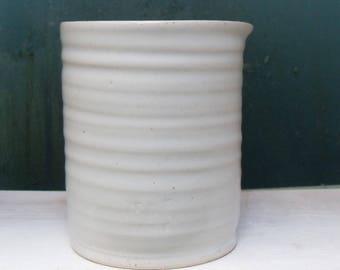 White no-handle Pottery Jug