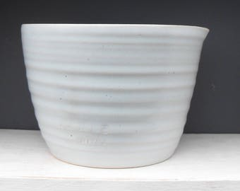 Large Stoneware Pottery Pouring Bowl