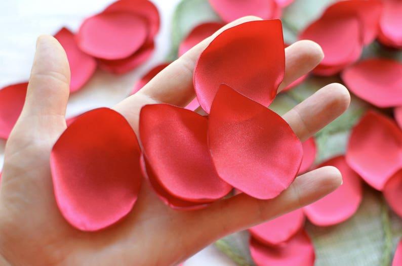 - RED SATIN leaf appliques fabric petals loose silk petals diy flowers organza appliques Handmade satin 50pcs supplies for crafts