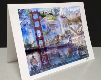The Golden Gate City 5 x 7 Greeting Card - San Francisco, CA