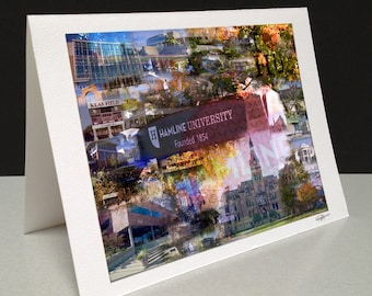 Proud to be a Piper 5 x 7 Greeting Card - Hamline University, St. Paul MN