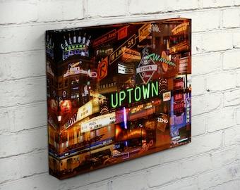 Uptown Nights Canvas - Minneapolis, MN