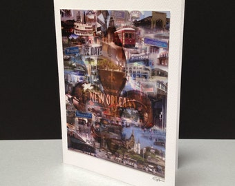 NOLA 5 x 7 Greeting Card - New Orleans, LA