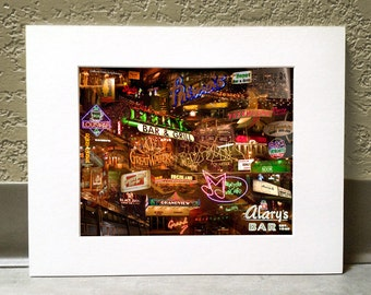 Another Late Nite 11 x 14 Matted Print - Saint Paul, MN