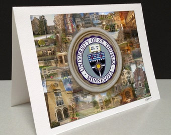 Forever Tommies 5 x 7 Greeting Card - University of St. Thomas, Saint Paul MN