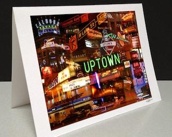 Uptown Nights 5 x 7 Greeting Card - Minneapolis, MN