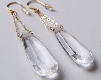 Diamant Edelstein Kette Gold Ohrringe