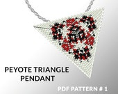 Peyote triangle pattern with instruction, native peyote pattern, native american pattern, native stitch, triangle peyote pendant #1