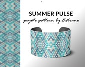 Peyote bracelet design, odd count peyote, stitch pattern, pdf pattern, bracelet peyote, peyote pattern, native american jewelry SUMMER PULSE