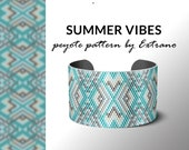 Peyote bracelet design, odd count peyote, stitch pattern, pdf pattern, bracelet peyote, peyote pattern, native american jewelry SUMMER VIBES