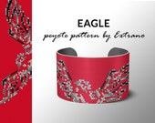 bracelet pattern, peyote bracelet pattern, even count, bracelet design, peyote stitch pattern, digital file, pdf, native american EAGLE