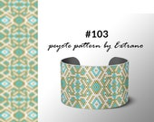 Peyote pattern bracelet, uneven peyote pattern, even peyote stitch, peyote pattern, native jewelry, spiritual jewelry, peyote #103