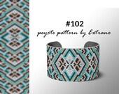 Peyote pattern bracelet, uneven peyote pattern, even peyote stitch, peyote pattern, native jewelry, spiritual jewelry, peyote #102