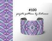 Peyote pattern bracelet, uneven peyote pattern, even peyote stitch, peyote pattern, native jewelry, spiritual jewelry, peyote #100