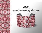 Peyote pattern bracelet, uneven peyote pattern, even peyote stitch, peyote pattern, native jewelry, spiritual jewelry, peyote #101