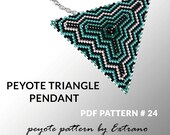 Peyote triangle pattern with instruction, peyote triangle instruction, triangle peyote pattern, native stitch, triangle peyote pendant #24