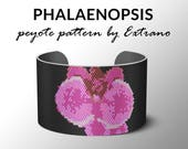 Peyote pattern, bracelet pattern, peyote bracelet, even peyote stitch pattern, delica pattern, 7 colors, instant download PDF-  PHALAENOPSIS