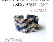 Bracelet tutorial, even peyote pattern, bracelet pattern, seed beads pattern, bracelet tutorial, wide cuff, beading tutorial, UNDULATED CUFF