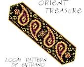 Bead Loom Pattern, Loom Tutorial, Beading Pattern, Loom Beading Pattern, Bracelet Tutorial, Bracelet Pattern, Loom Pattern - ORIENT TREASURE